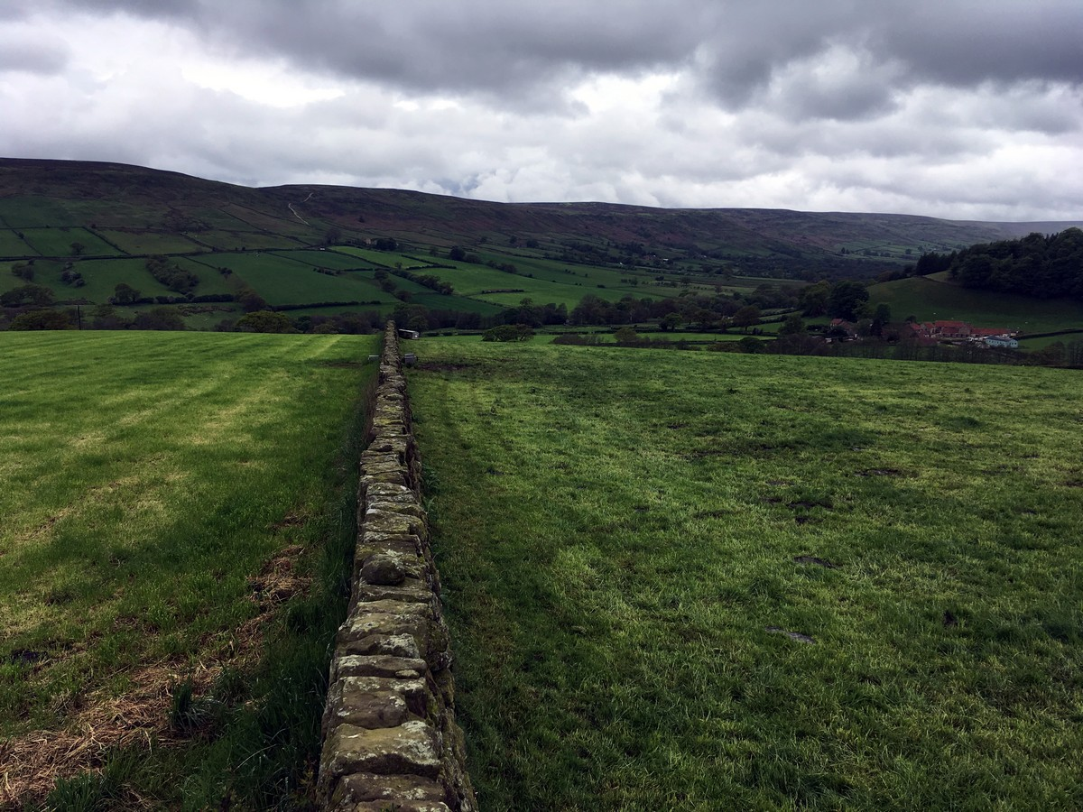 """Views across the valley from the Farndale """"Daffodil walk"""" Hike in North York Moors, England"""
