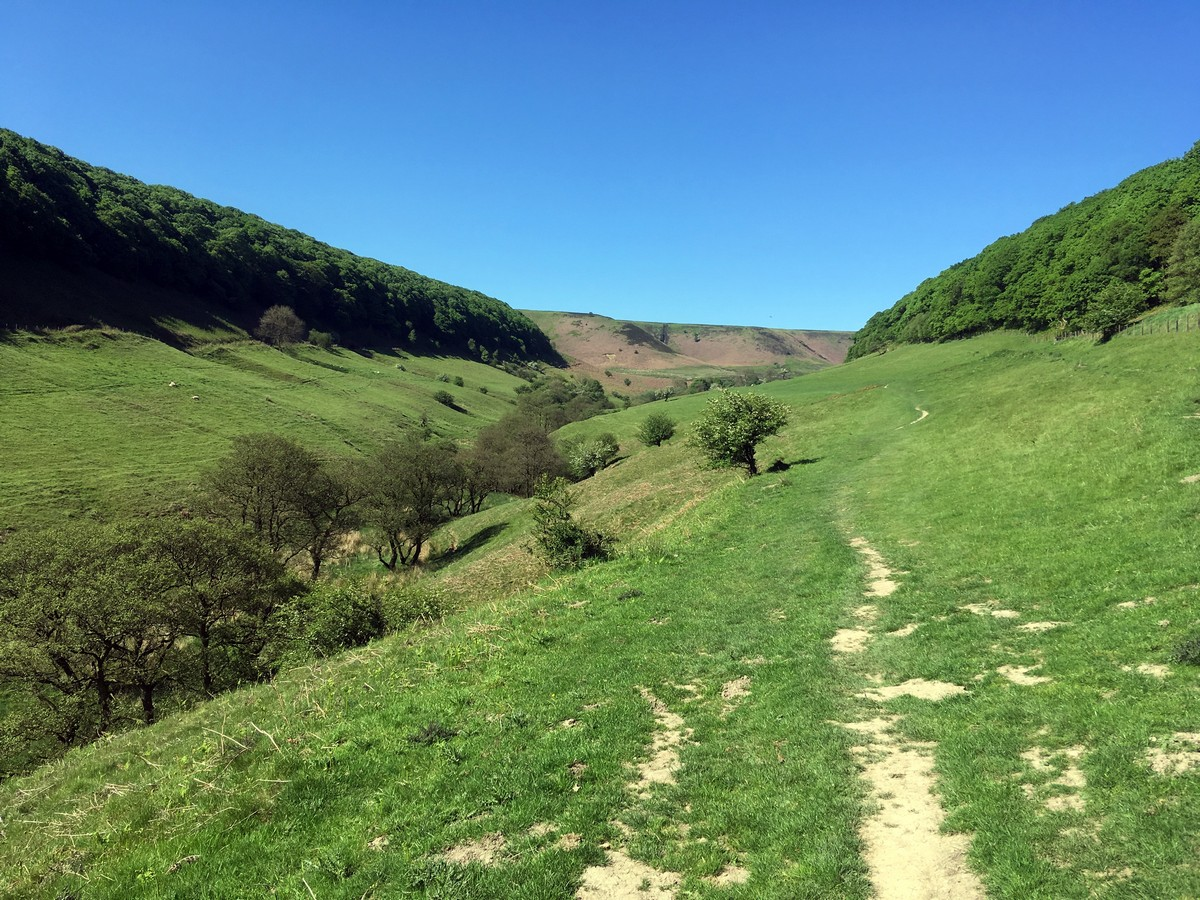 Low Horecum on the Hole of Horcum Hike in North York Moors, England