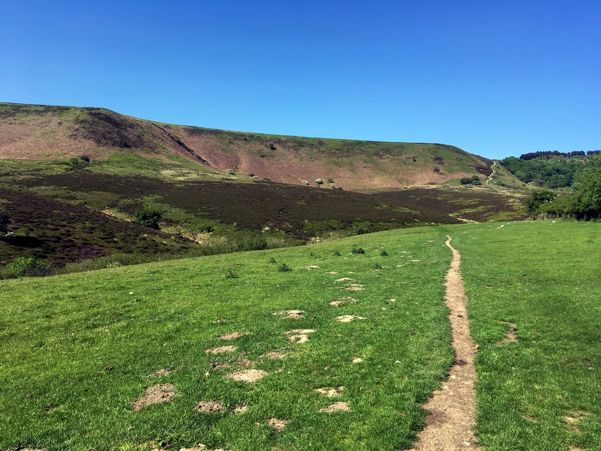Views of the Hole of Horcum Hike in North York Moors, England
