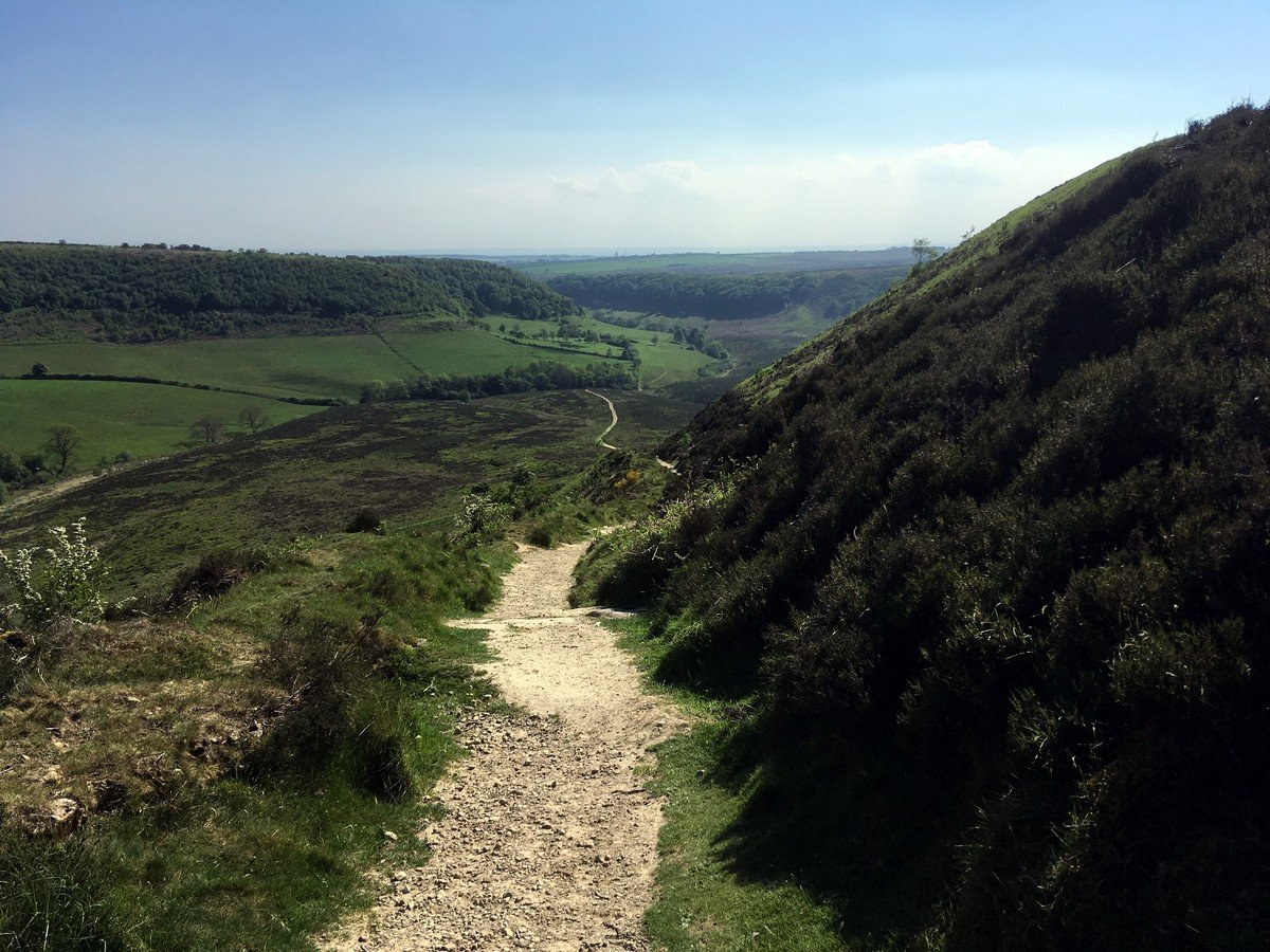 Path upon the Hole of Horcum Hike in North York Moors, England