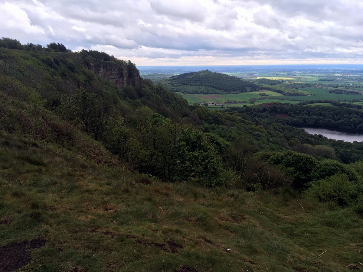 Beautiful views from the Sutton Bank, White Horse of Kilburn and Gormire Lake Hike in North York Moors, England
