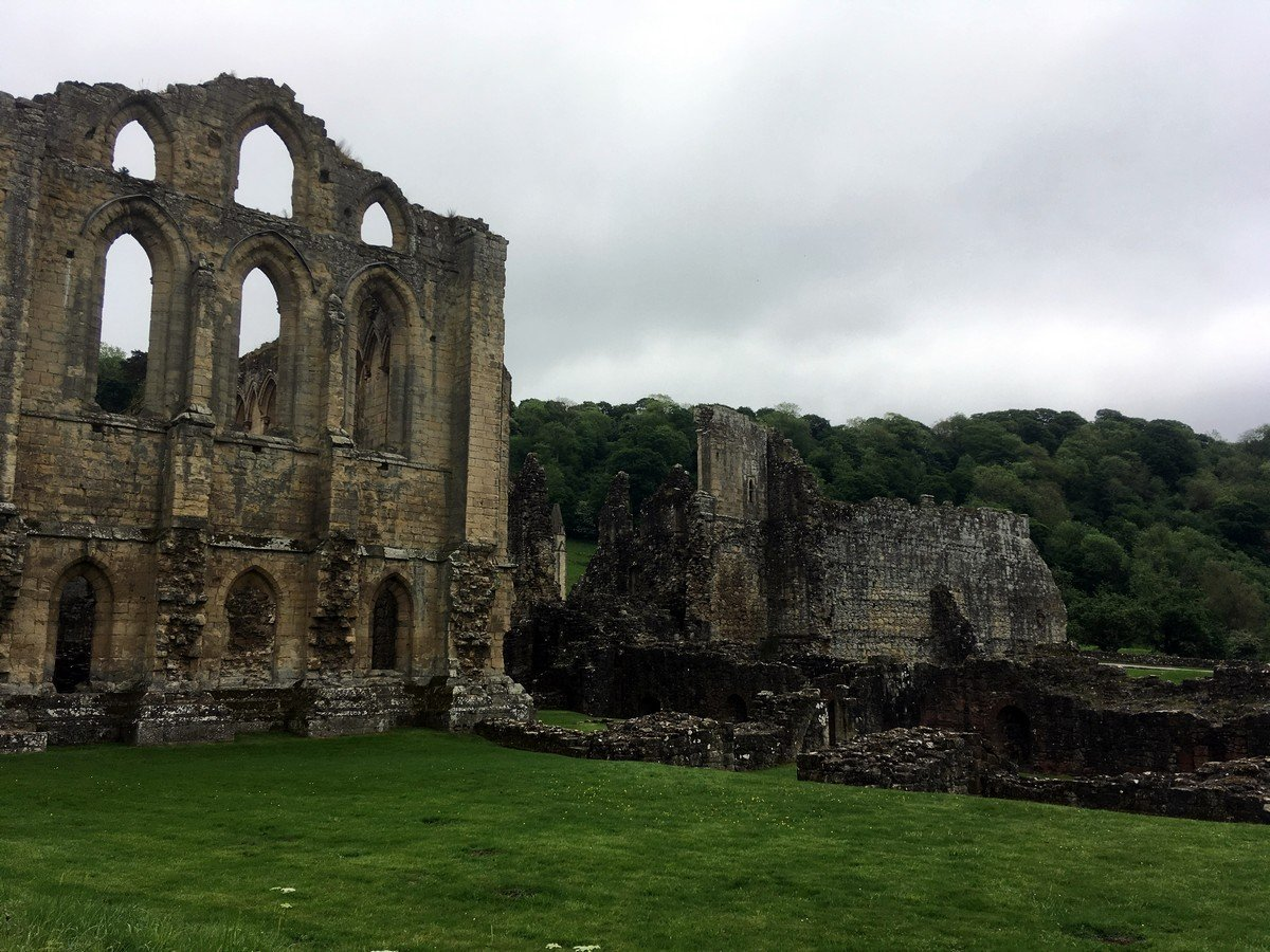 Trail views from the Helmsley to Rievaulx Abbey Hike in North York Moors, England