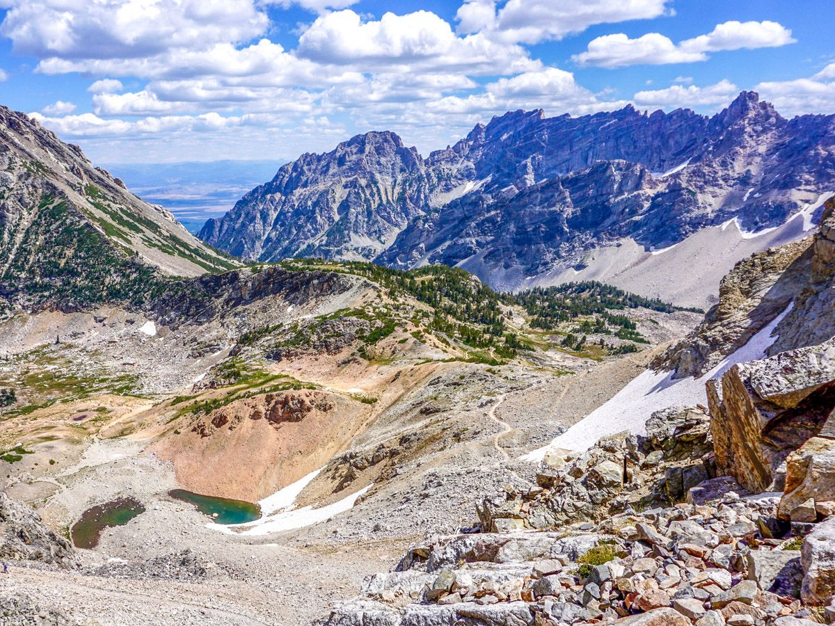 View of the area at Paintbrush Divide Hike in Grand Teton National Park