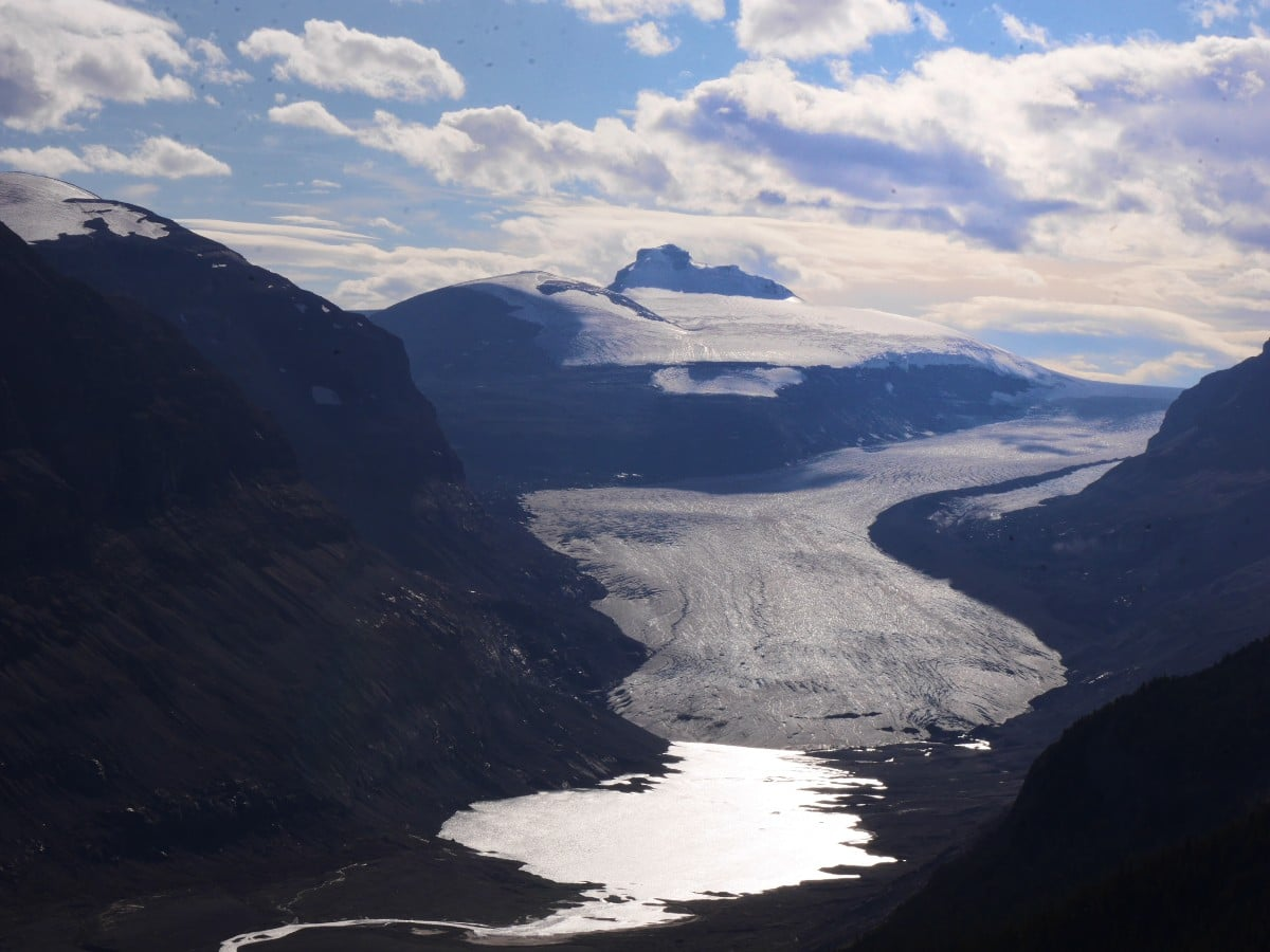 Saskatchewan Glacier on the Parker Ridge Trail Hike from the Icefields Parkway near Banff National Park