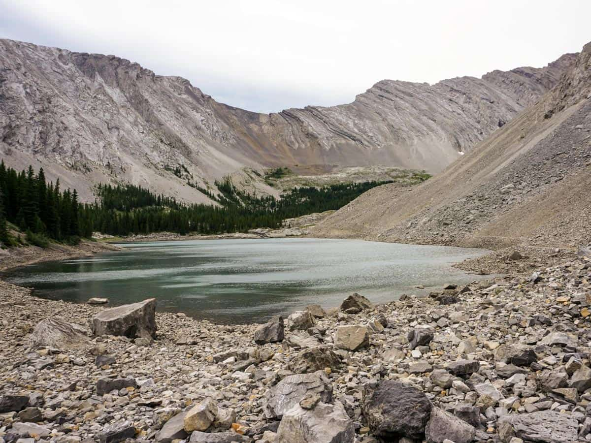 Hiking upon the Picklejar Lakes Hike in Kananaskis, near Canmore
