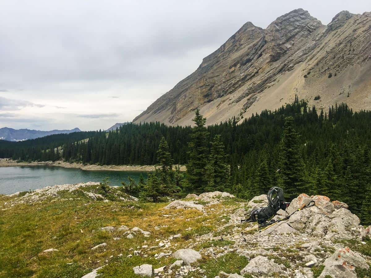 Great view from the Picklejar Lakes Hike in Kananaskis, near Canmore