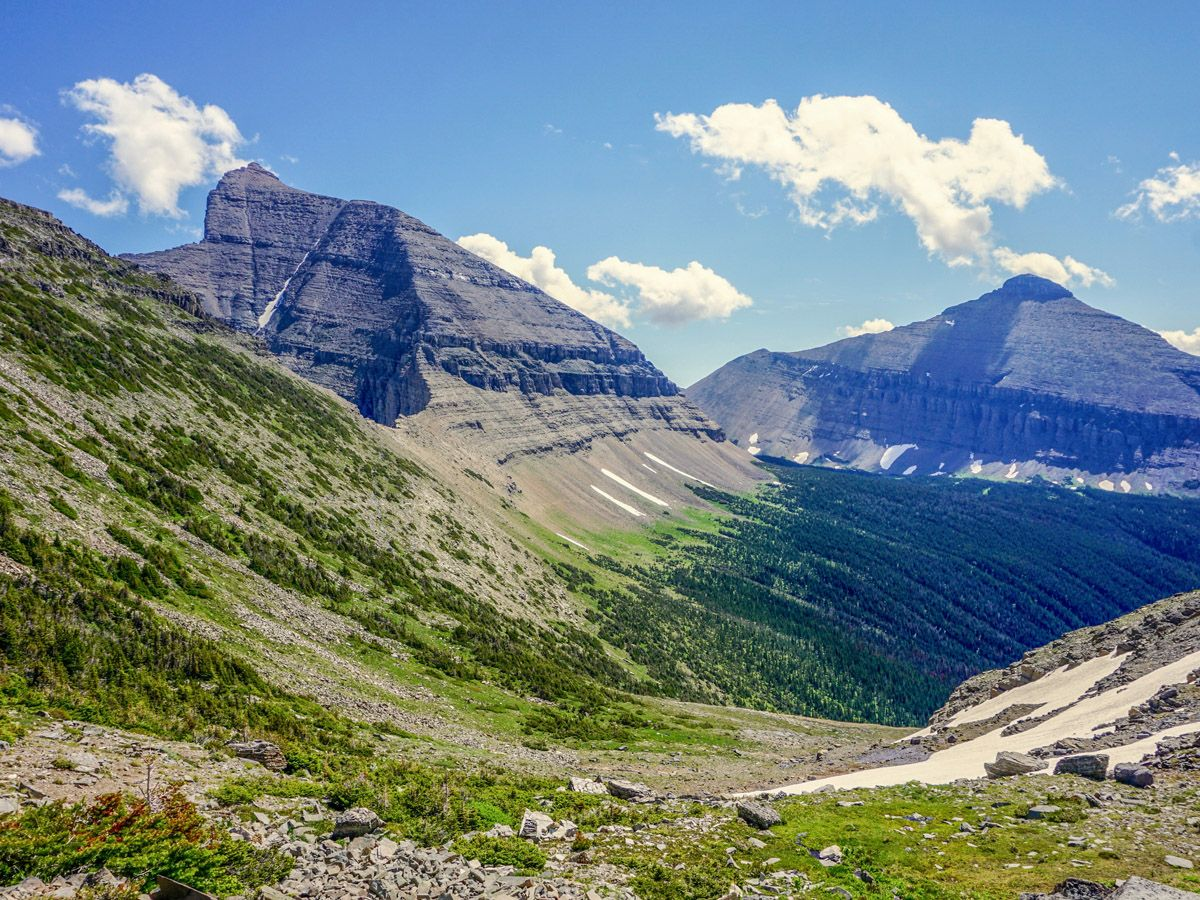 Mountain at Piegan Pass Hike in Glacier National Park