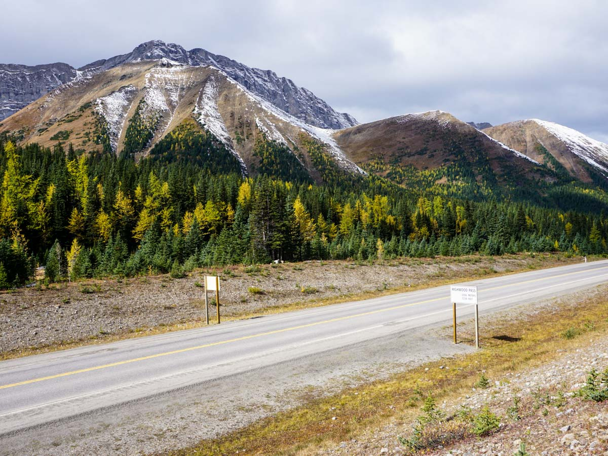Views from the highway on the Ptarmigan Cirque Hike in Kananaskis, near Canmore