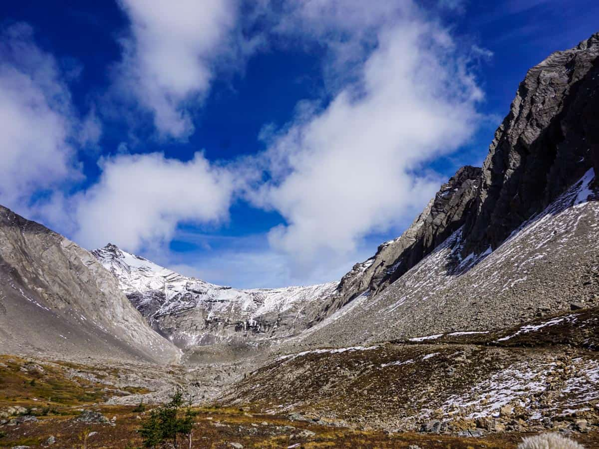 Incredible view from the Ptarmigan Cirque Hike in Kananaskis, near Canmore
