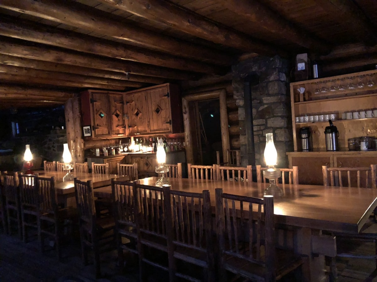 Romantic candlelight for dinner in Skoki Lodge