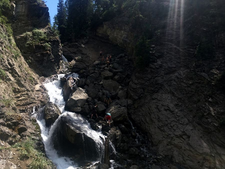 Donut Falls trail near Salt Lake City, Utah