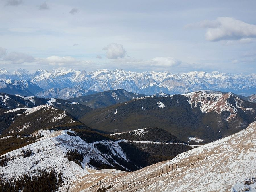 Scenery from the top of the Moose Mountain Hike from Bragg Creek, Kananaskis