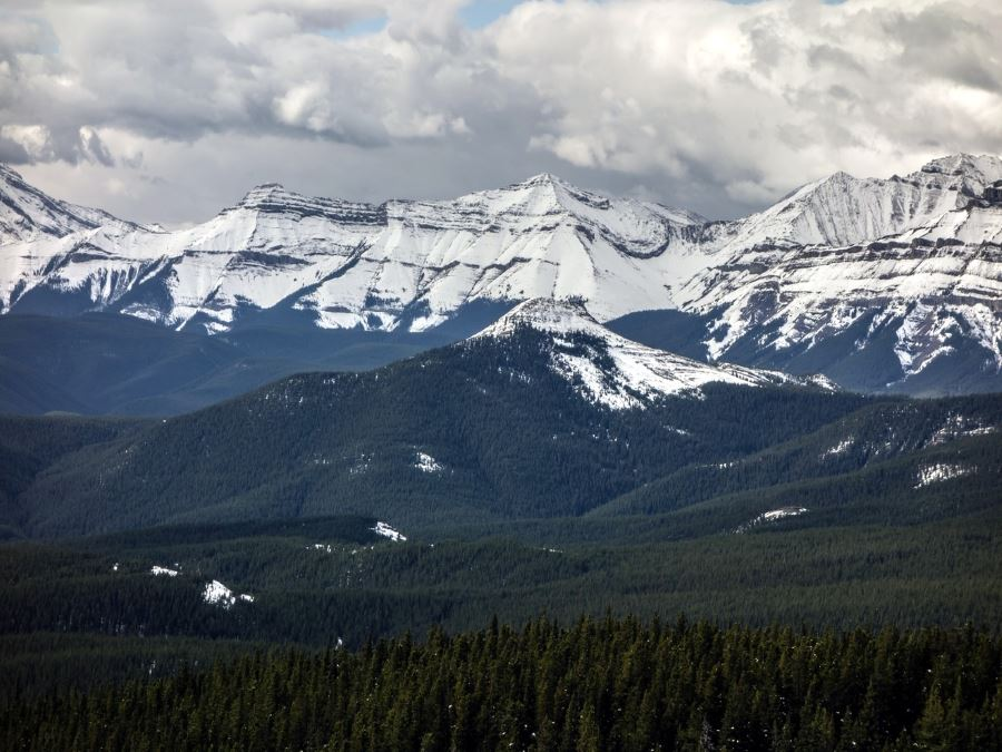 Beautiful view from the Volcano Ridge Hike in Sheep River Provincial Park, Kananaskis