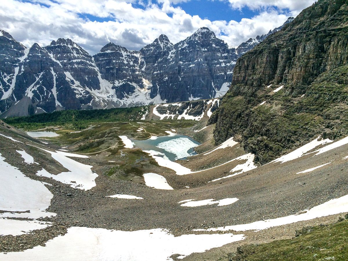 Great views from the Sentinel Pass Hike in Lake Louise, Banff National Park
