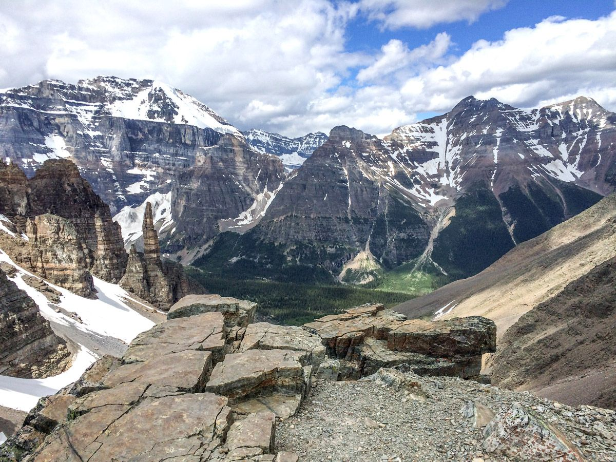 Mountain views from the Sentinel Pass Hike in Lake Louise, Banff National Park