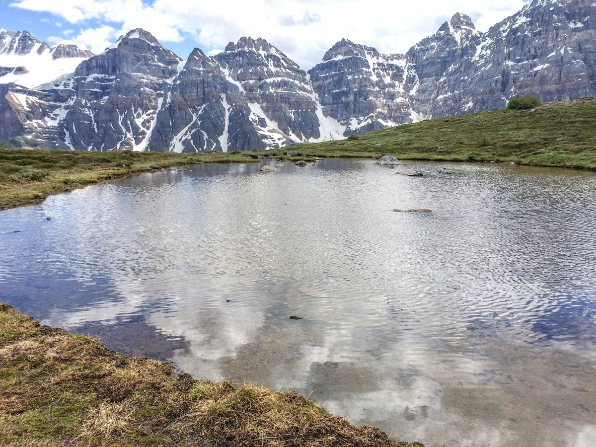 Beautiful lake on the Sentinel Pass Hike in Lake Louise, Banff National Park