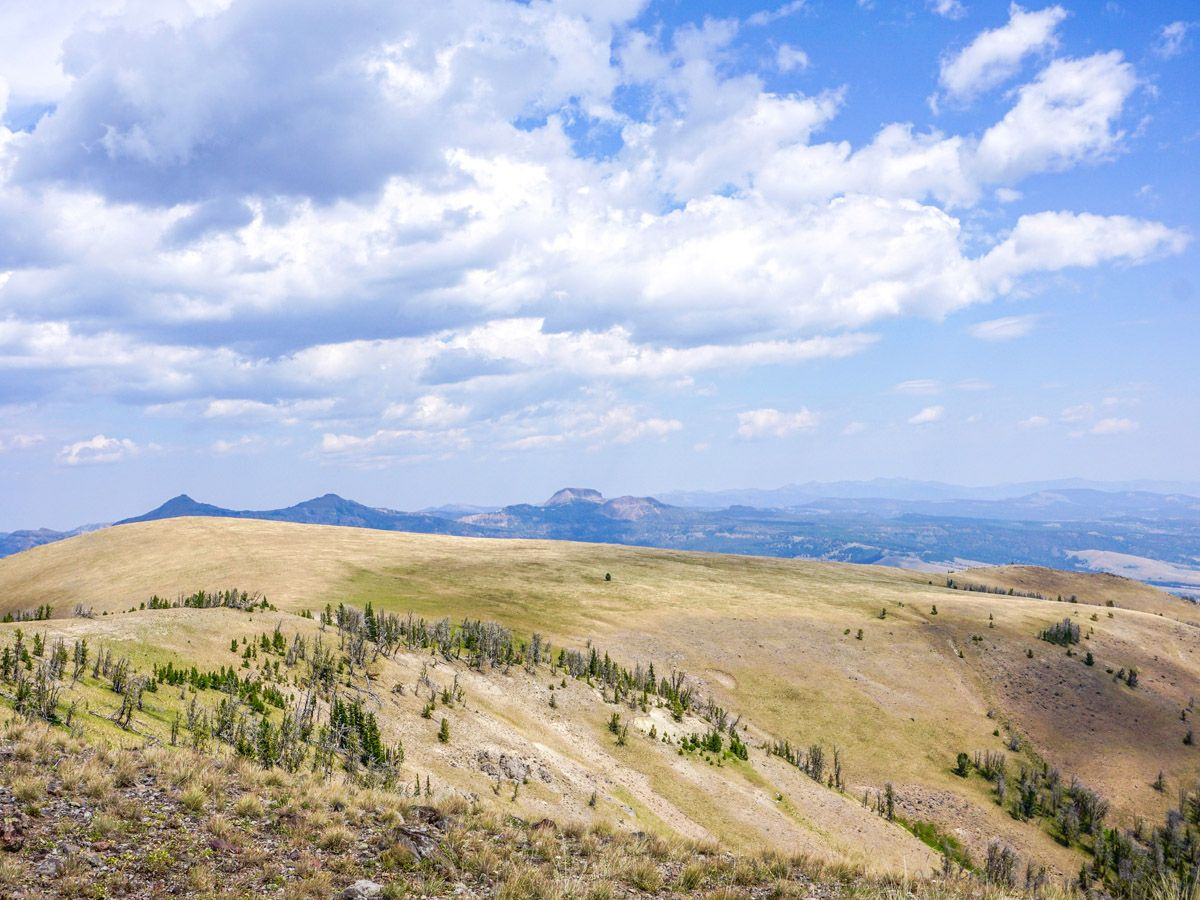 Sky Rim Hike in Yellowstone National Park is surrounded by beautiful landscapes