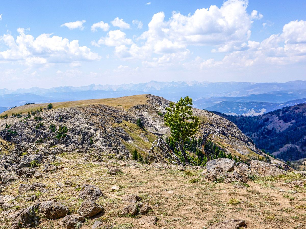 Hiking the Sky Rim trail in Yellowstone National Park