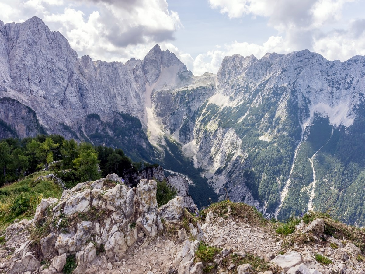 Views from the top of Slemenova Spica hike in Julian Alps