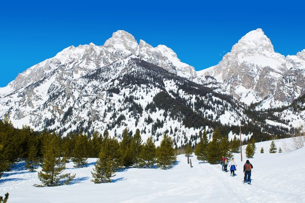 Snowshoeing in the Tetons