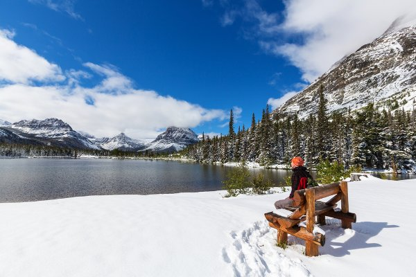 Some lakes are still accessible in winter