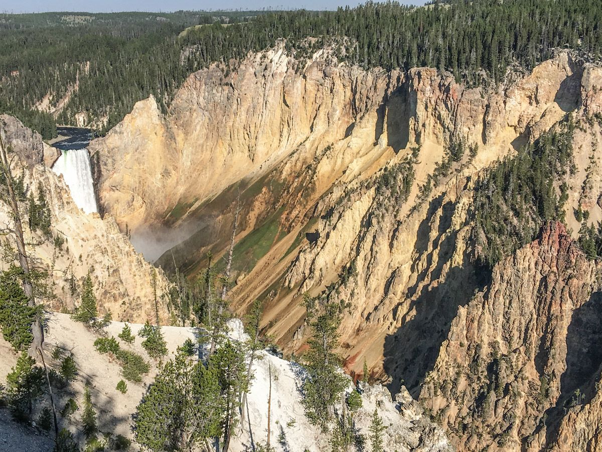 Stunning falls on South Rim Hike in Yellowstone National Park, Wyoming