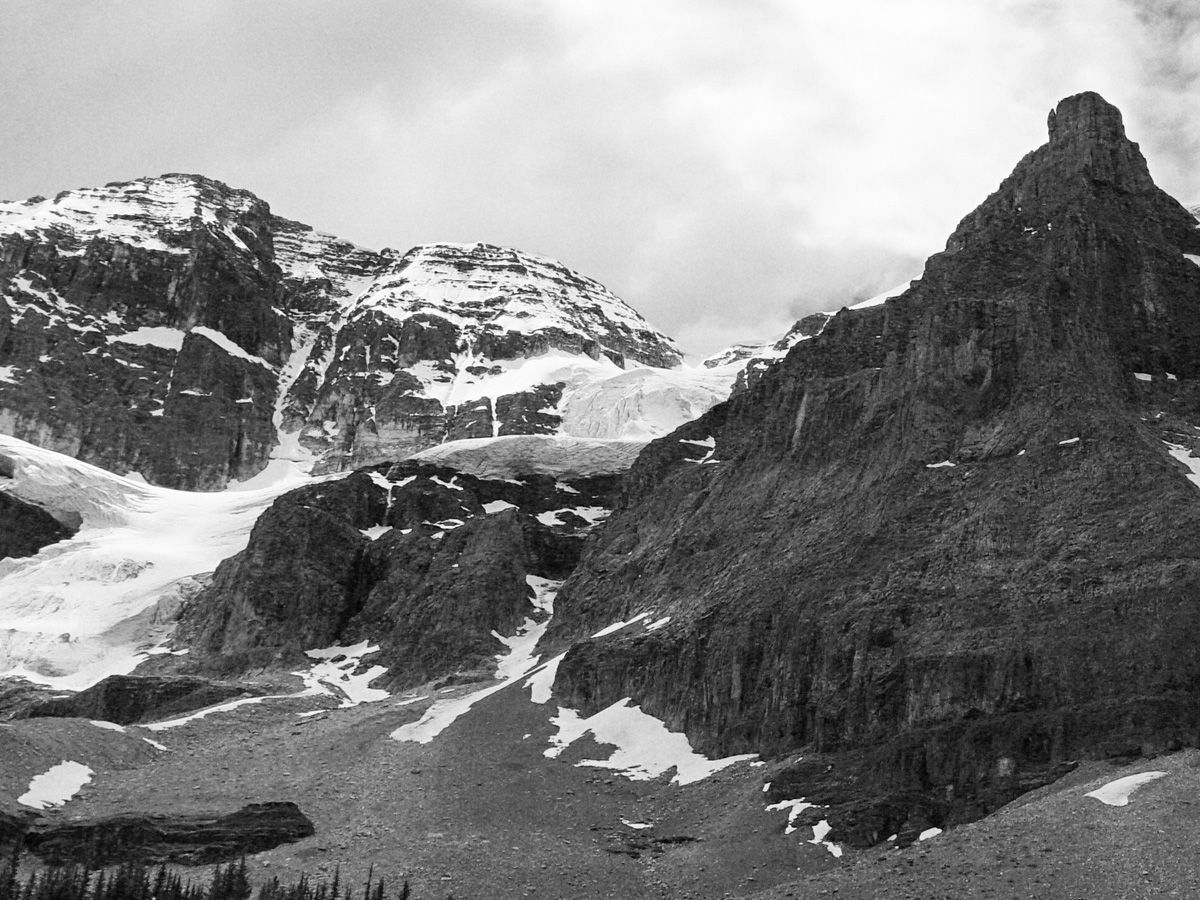 Mountain from the Stanley Glacier Hike in Kootenay National Park, Canadian Rocky Mountains