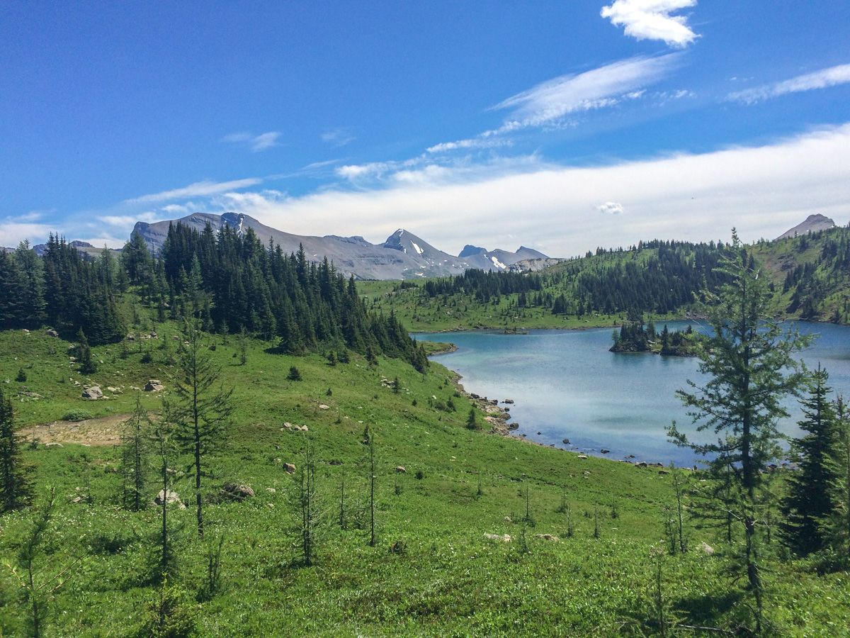 Peaks on the Sunshine Meadows (Rock Isle, Grizzly and Larix Lake) Hike in Banff National Park
