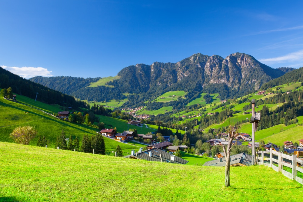 Hiking in Austrian Alps include the village of Inneralpbach in Alpbach Valley