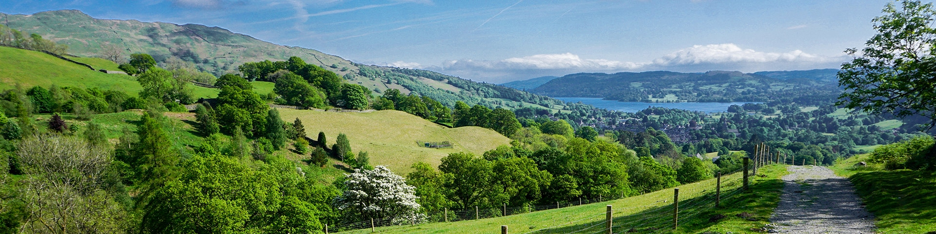 Panoramic views from the Fairfield Horseshoe hike in Lake District, England