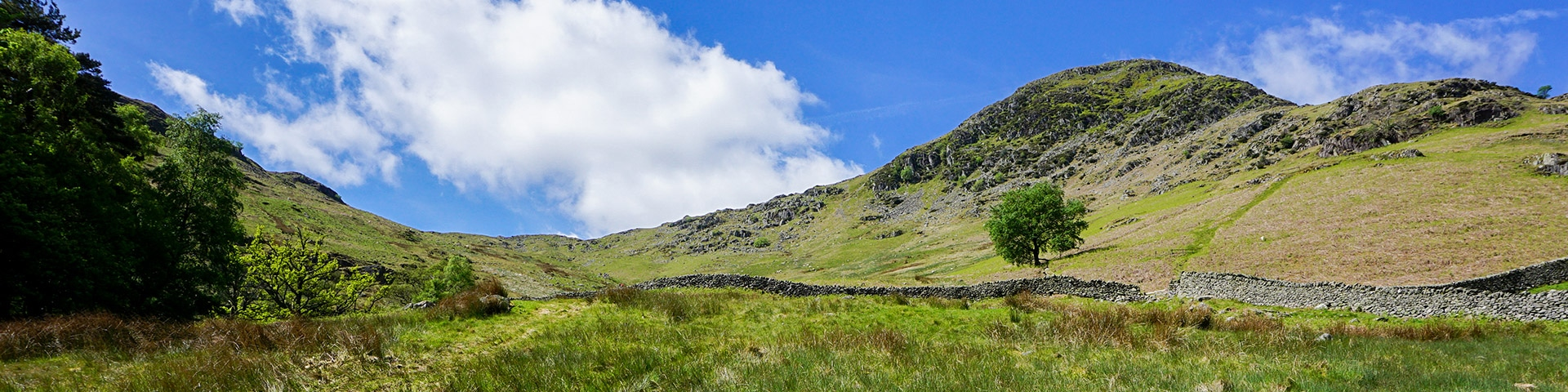 Panoramic views from the Helvellyn hike in Lake District, England