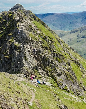 Helvellyn hike in Lake District, England
