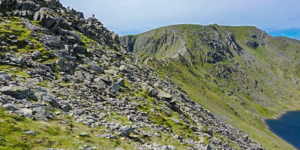 Helvellyn via Striding and Swirral Edge trail in Lake District