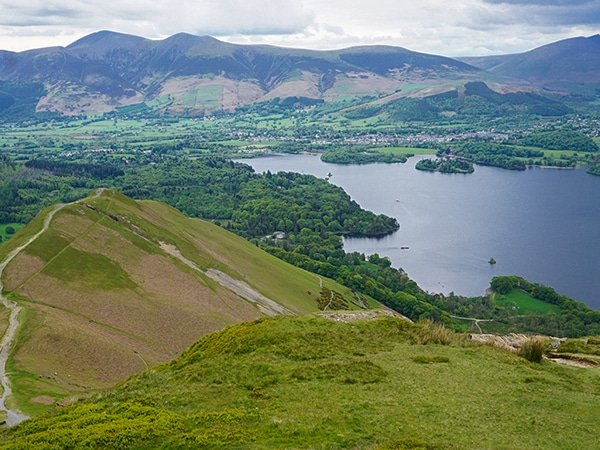 Views from top of Newlands Horseshoe hike in Lake District