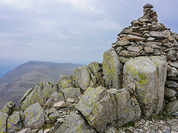 Trail of the Old Man of Coniston hike in Lake District, England