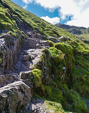 Scafell Pike hike in Lake District, England
