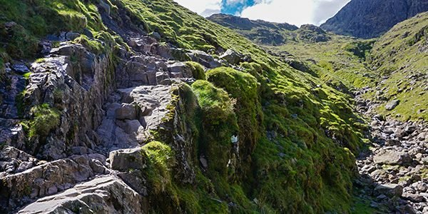 Scafell Pike trail in Lake District, England
