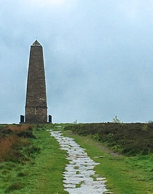 Captain Cook's Monument and Roseberry Topping walk in North York Moors, England