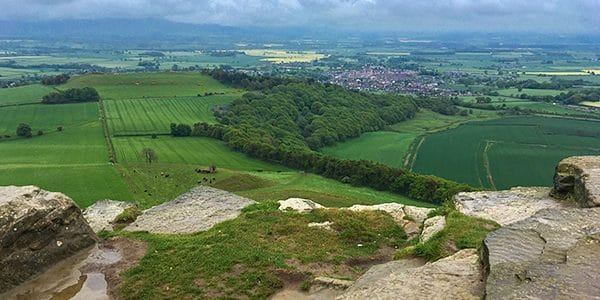 Captain Cook's Monument and Roseberry Topping trail, North York Moors