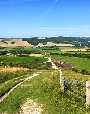 Amberley to Shoreham-by-Sea walk in South Downs, England
