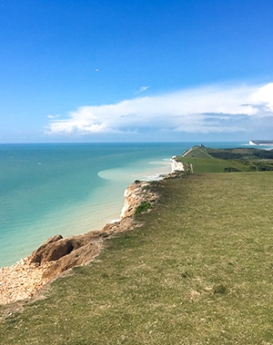 East Dean, Beachy Head and Birling Gap walk in South Downs, England