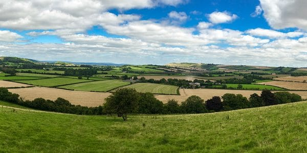 Trail of the East Meon and Butser Hill walk in South Downs, England
