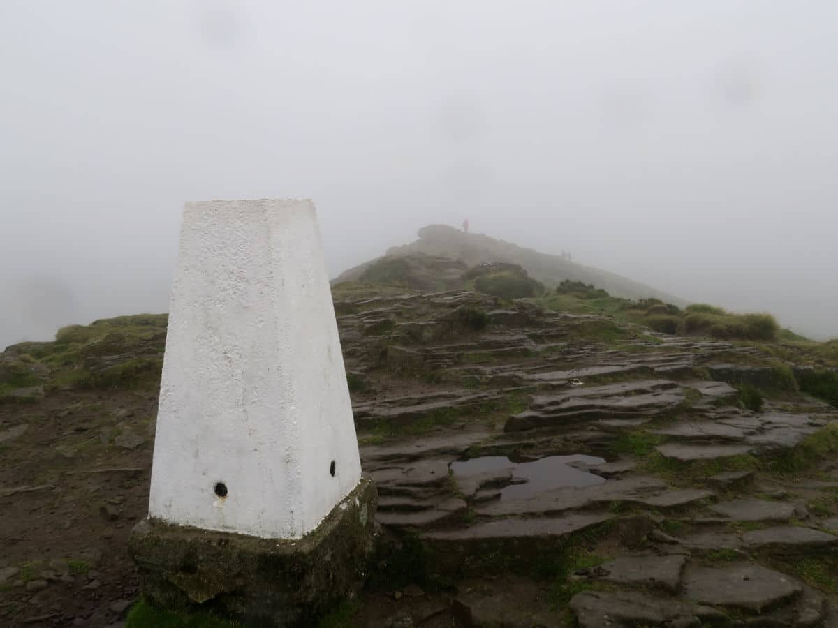Summit of Win Hill on the Great Ridge and Win Hill Hike in Peak District, England