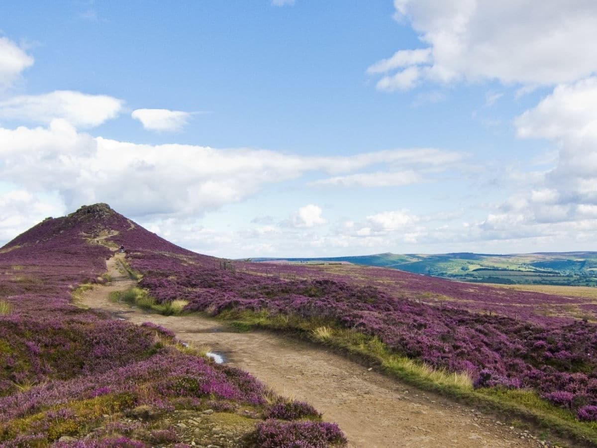 Summit of Great Ridge and Win Hill Hike in Peak District, England