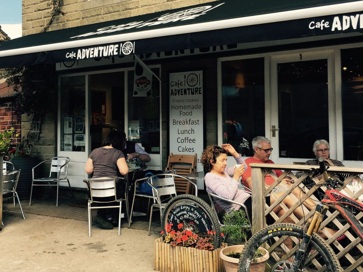 The Adventure Cafe in Hope Village on Great Ridge and Win Hill Hike in Peak District, England
