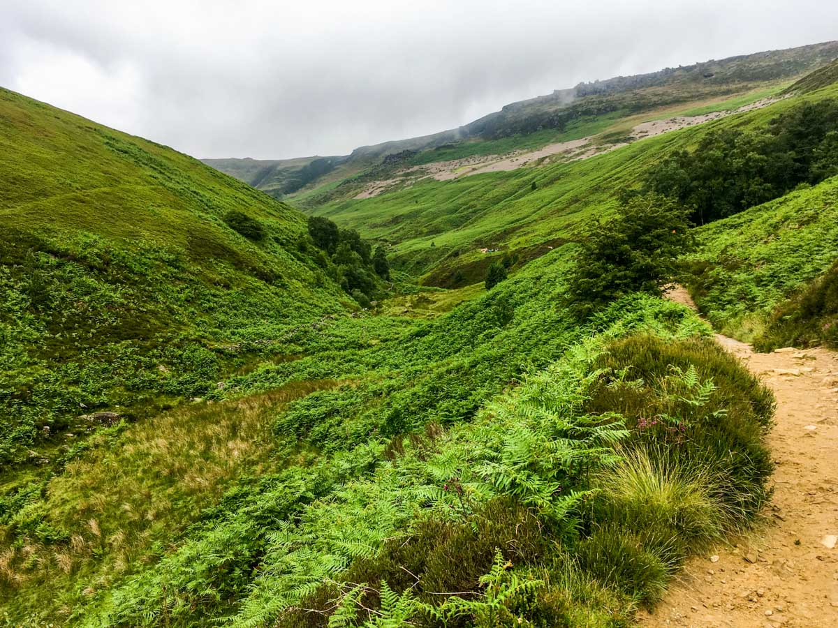 Grindsbrook Clough on Kinder Scout Hike in Peak District, England