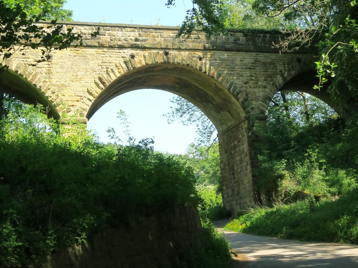 Viaduct at the Monsal Trail Hike in Peak District, England