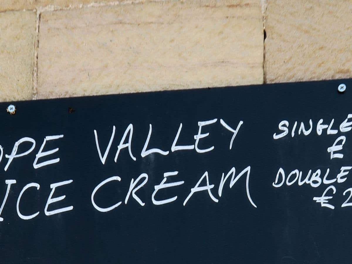 A local treat on the Monsal Trail Hike in Peak District, England