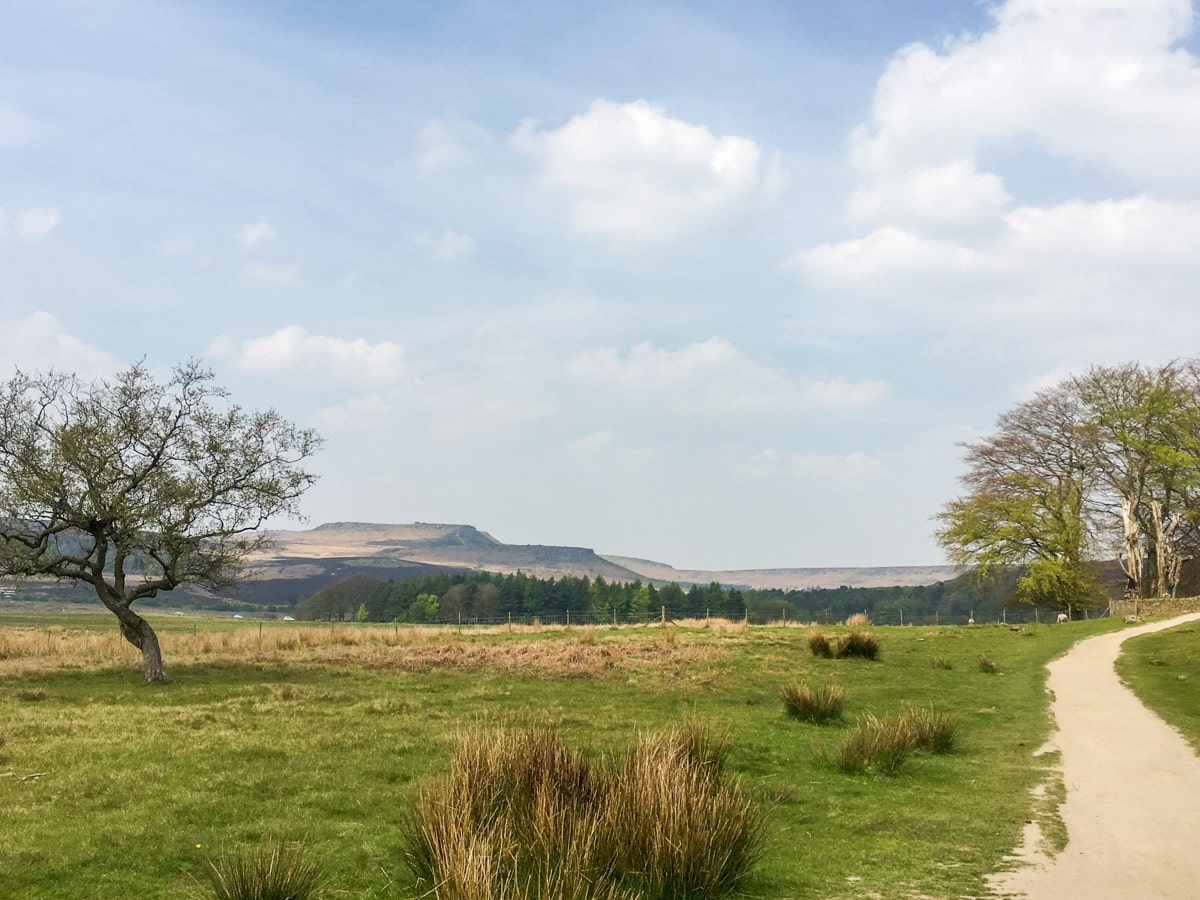 Longshaw Estate grounds on Padley Gorge Hike in Peak District, England