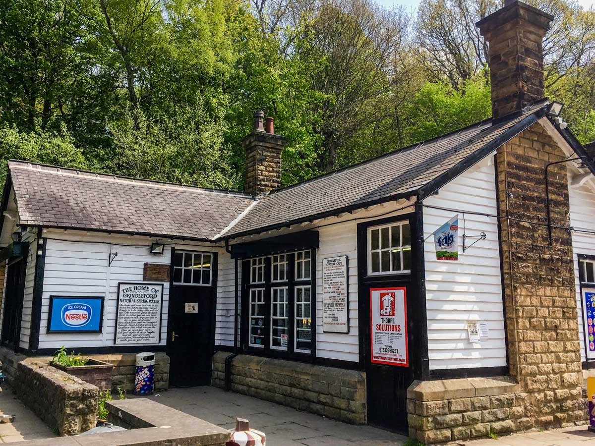 Station Cafe at Grindleford on the Padley Gorge Hike in Peak District, England